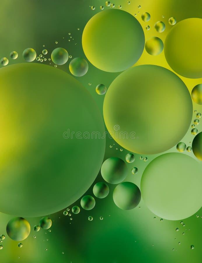 Fundo verde da bolha fotografia de stock
