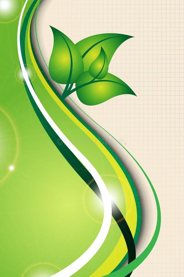 Fundo verde da ecologia ilustração royalty free