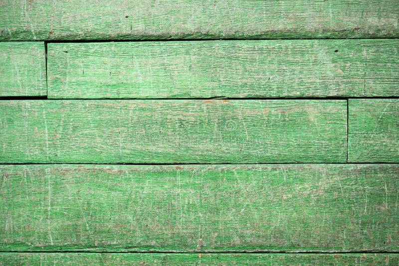 Fundo verde da madeira do vintage fotografia de stock