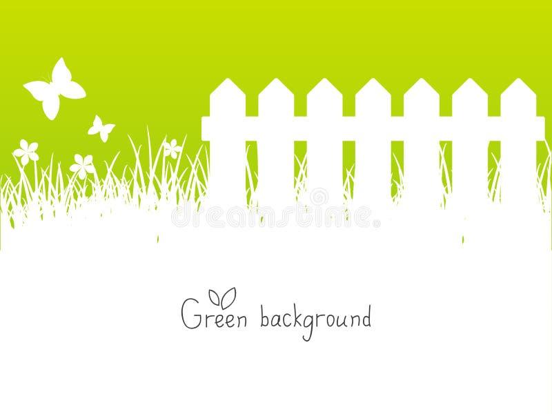 Fundo verde da mola ilustração royalty free