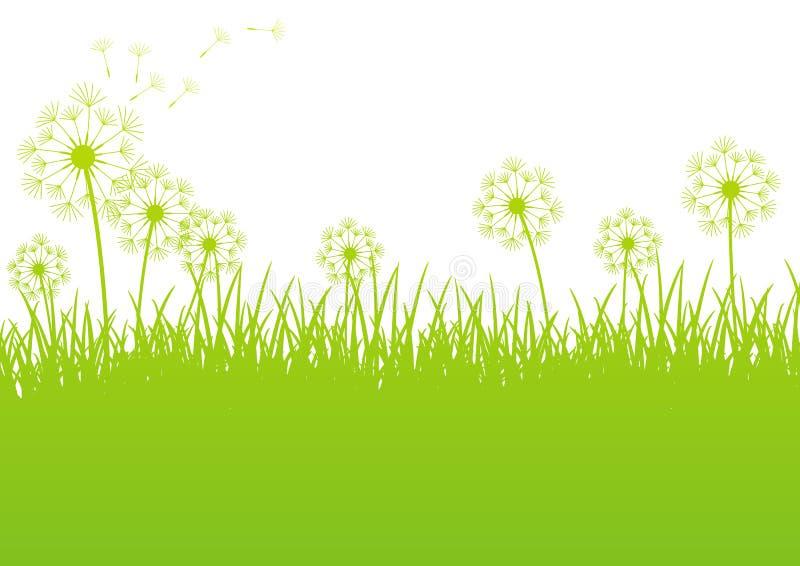 Fundo verde da mola ilustração do vetor