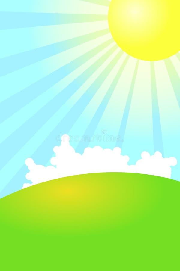 Fundo verde da natureza ilustração stock
