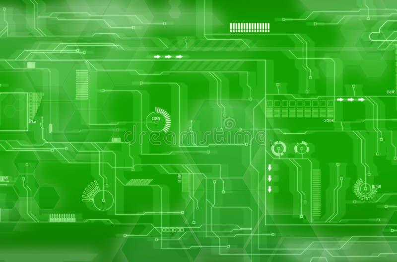 Fundo verde da tecnologia ilustração do vetor