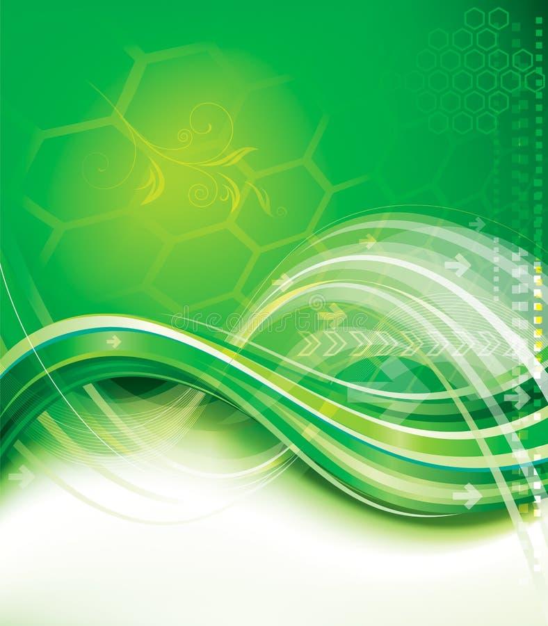 Fundo verde da tecnologia ilustração stock