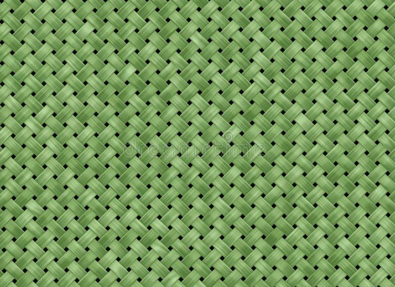 Fundo verde da textura da tela ilustração stock