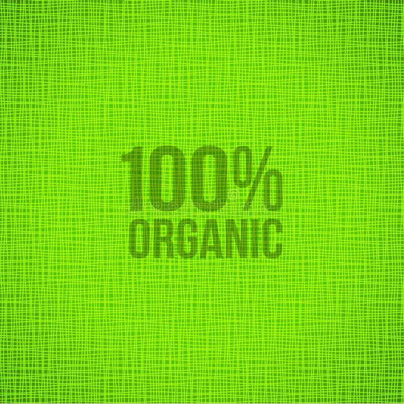 Fundo verde da textura da tela natural ilustração stock