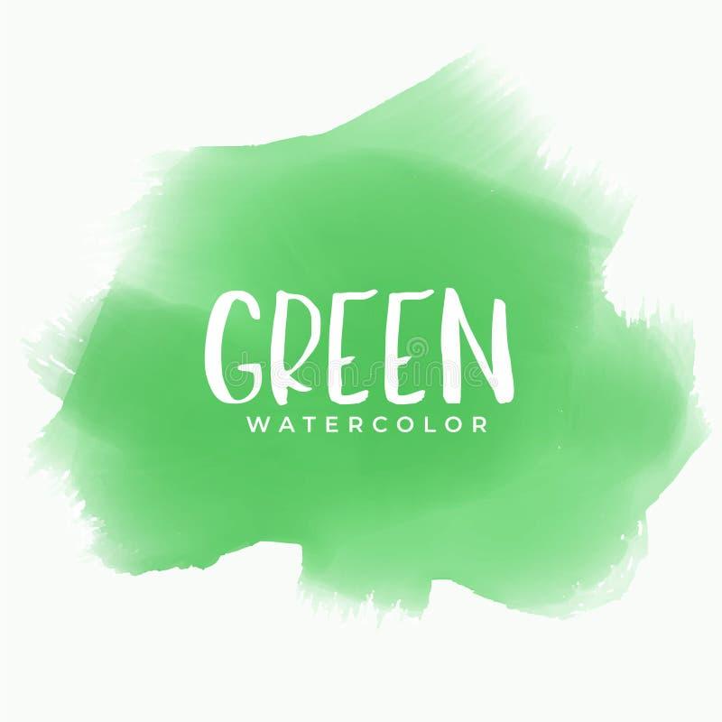 Fundo verde da textura da mancha da aquarela ilustração royalty free