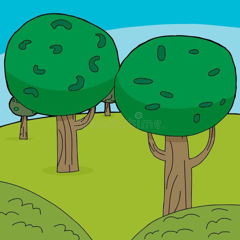 Fundo verde das árvores ilustração stock