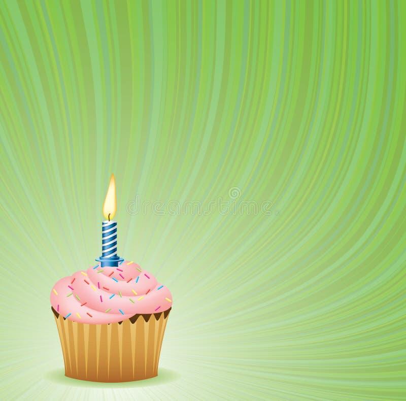Fundo verde do aniversário ilustração royalty free