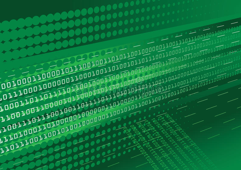 Fundo verde do código binário ilustração royalty free