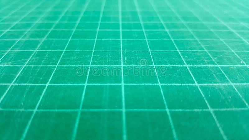 Fundo verde do carimbo de borracha da esteira do corte do close-up fotografia de stock