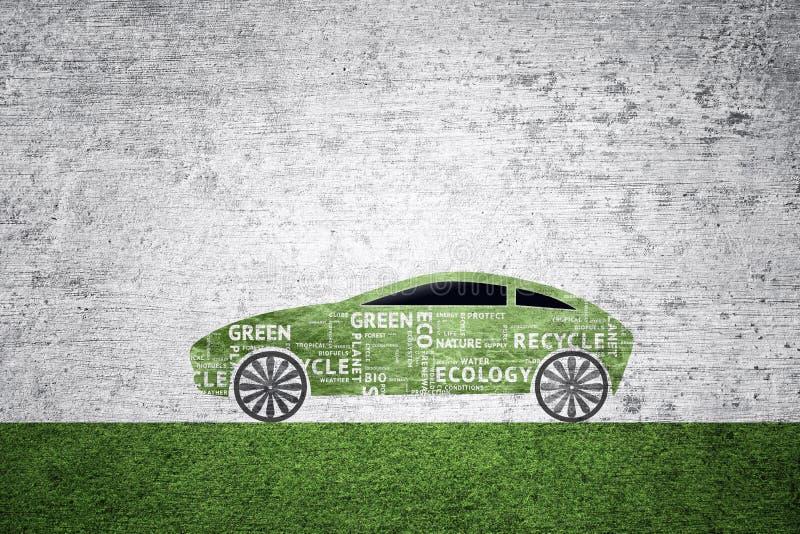 Fundo verde do carro do eco do conceito ilustração stock