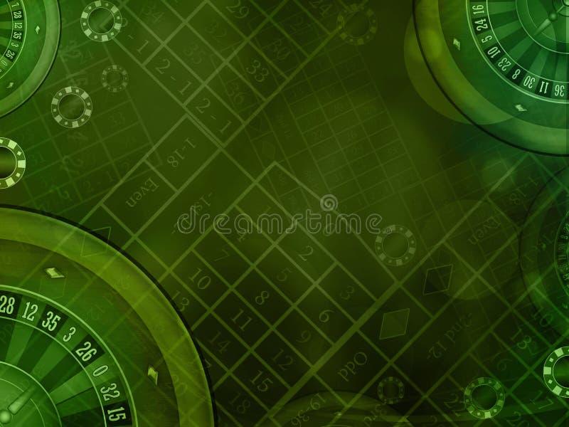 Fundo verde do casino ilustração stock