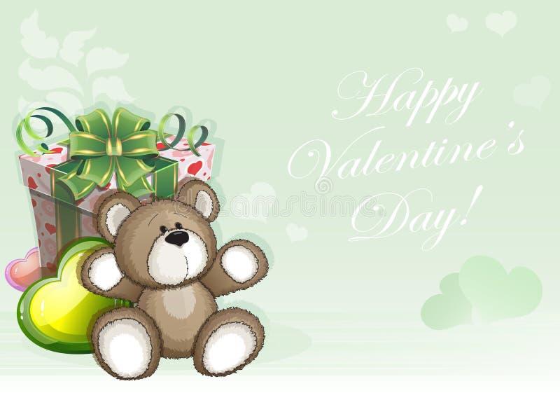 Fundo verde do dia de Valentim ilustração do vetor