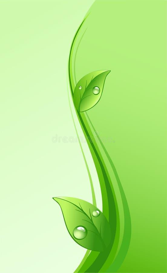 Fundo verde do eco ilustração royalty free