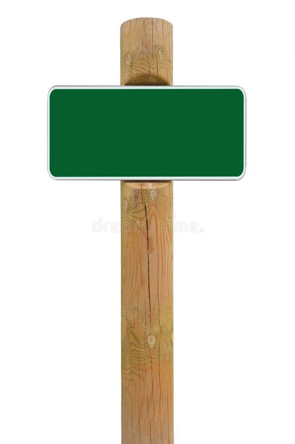 Fundo verde do espaço da cópia do signage da placa do sinal do metal, roadsign branco do quadro, cargo de madeira resistido envel fotografia de stock