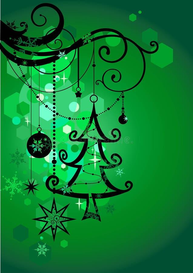 Fundo verde do feriado ilustração stock