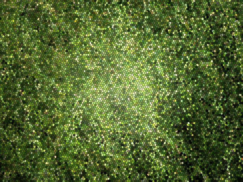 Fundo verde do mosaico ilustração do vetor