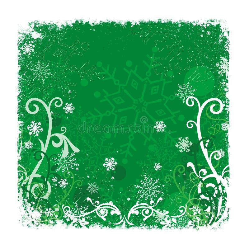 Fundo verde do Natal ilustração royalty free