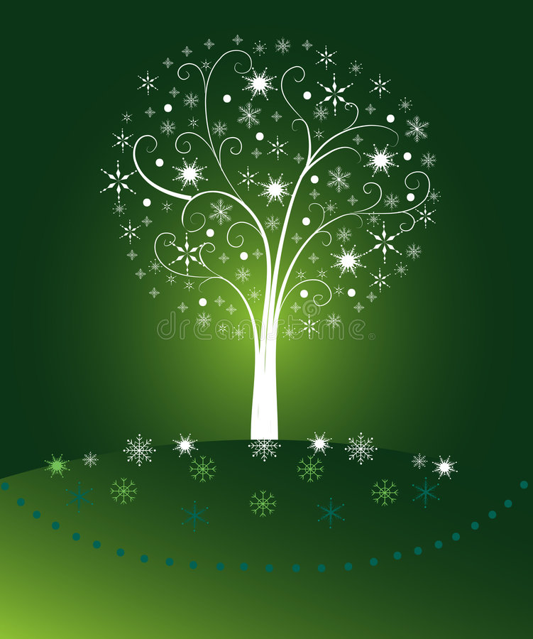 Fundo verde do Natal ilustração do vetor