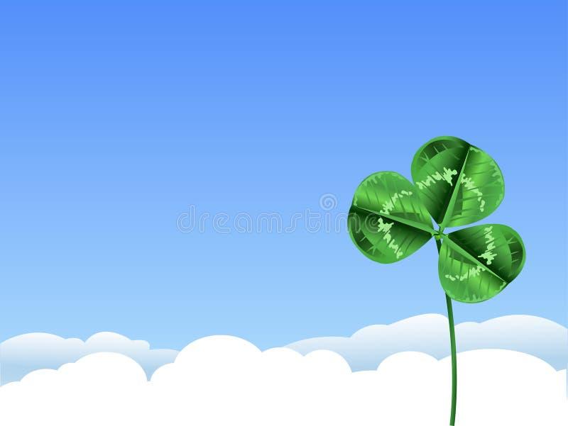 Fundo verde do trevo para o dia do St. Patrick ilustração royalty free