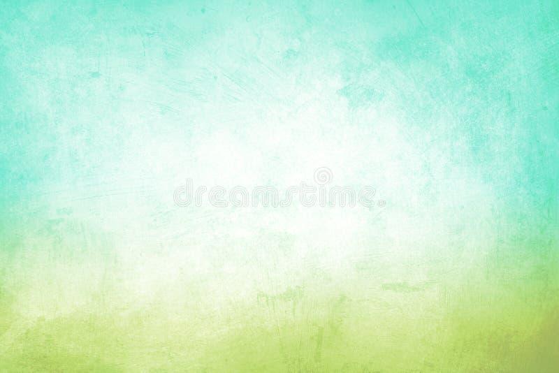Fundo verde e azul do Grunge foto de stock