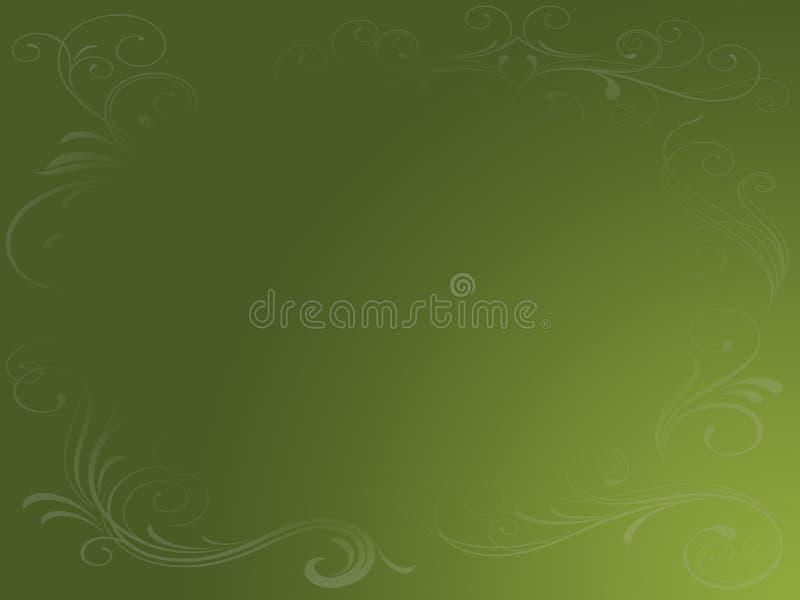 Fundo verde Earthy de Grunge ilustração royalty free