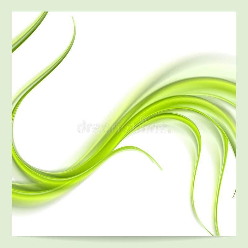 Fundo verde elegante abstrato do teste padrão ondulado ilustração do vetor