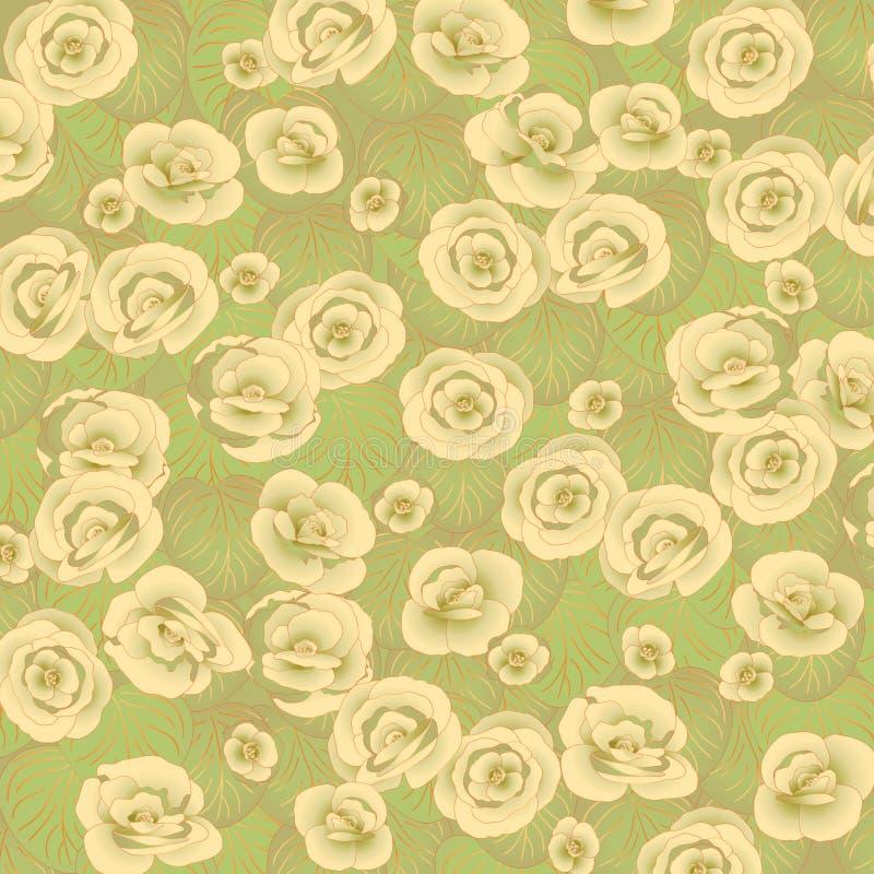 Fundo verde floral ilustração do vetor