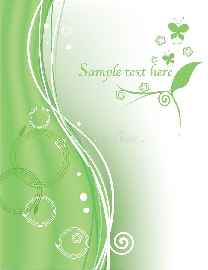 Fundo verde floral abstrato ilustração royalty free