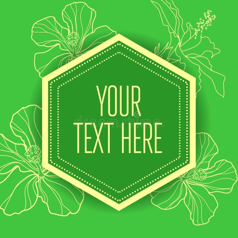 Fundo verde floral do vintage ? moda do vetor ilustração stock
