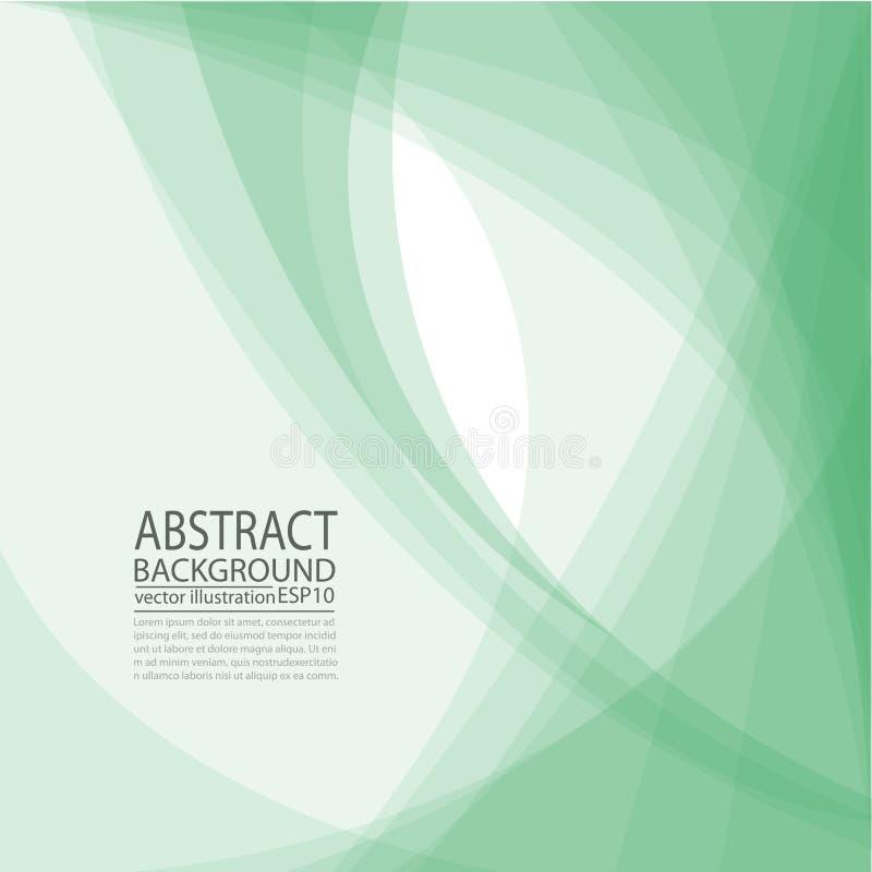 Fundo verde geométrico abstrato das linhas e das listras para a poupança de tela, bandeira, artigo, cargo, textura, teste padrão ilustração stock