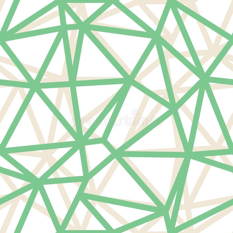 Fundo verde geométrico dos esboços do triângulo do sumário do vetor Apropriado para a matéria têxtil, o papel de embrulho e o pap ilustração royalty free