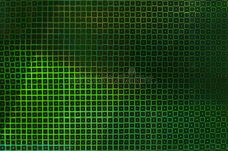 Fundo verde incomum criativo de quadrados de incandescência foto de stock royalty free