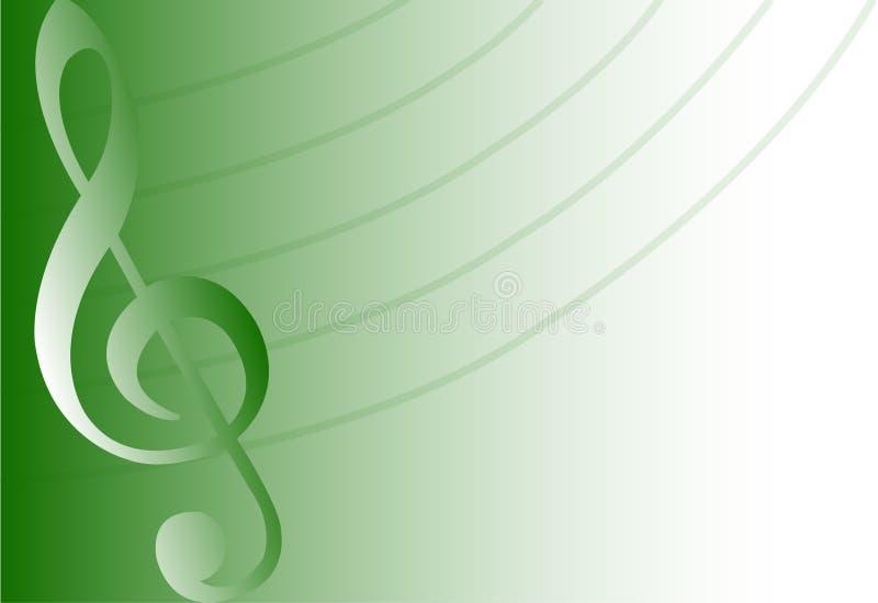 Fundo/verde musicais/eps ilustração royalty free