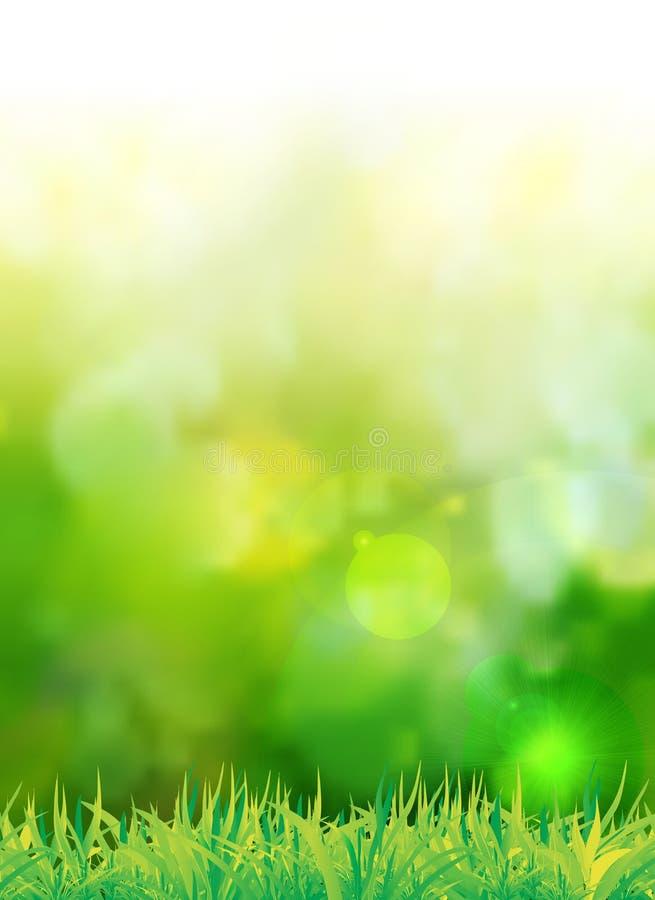 Fundo verde natural com foco seletivo ilustração stock