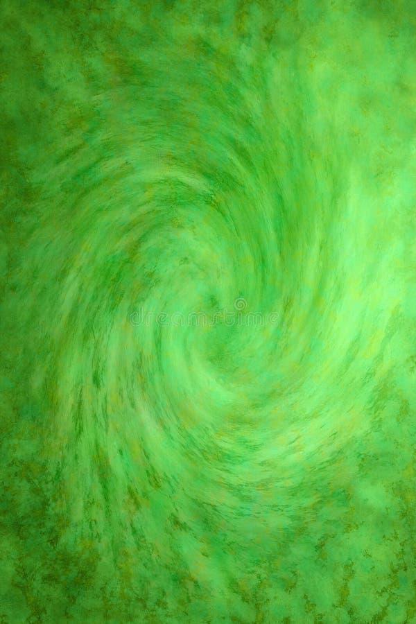 Fundo verde pintado do redemoinho imagem de stock