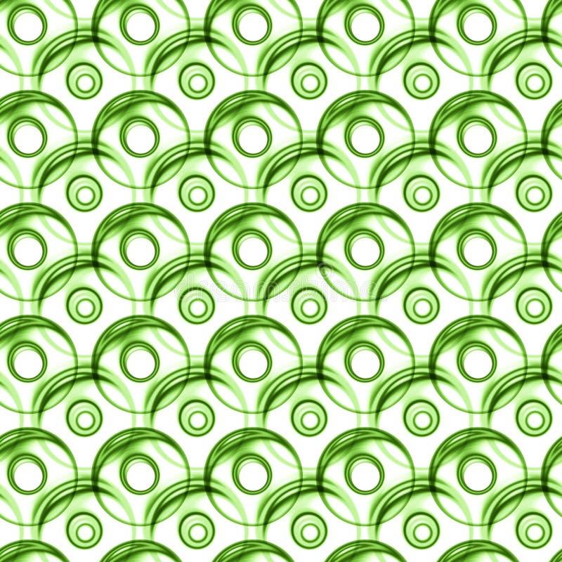 Fundo verde sem emenda da textura das bolas ilustração stock