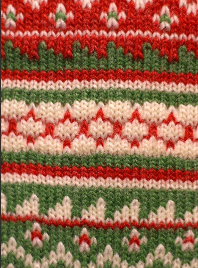 Fundo verde vermelho do Knit fotos de stock