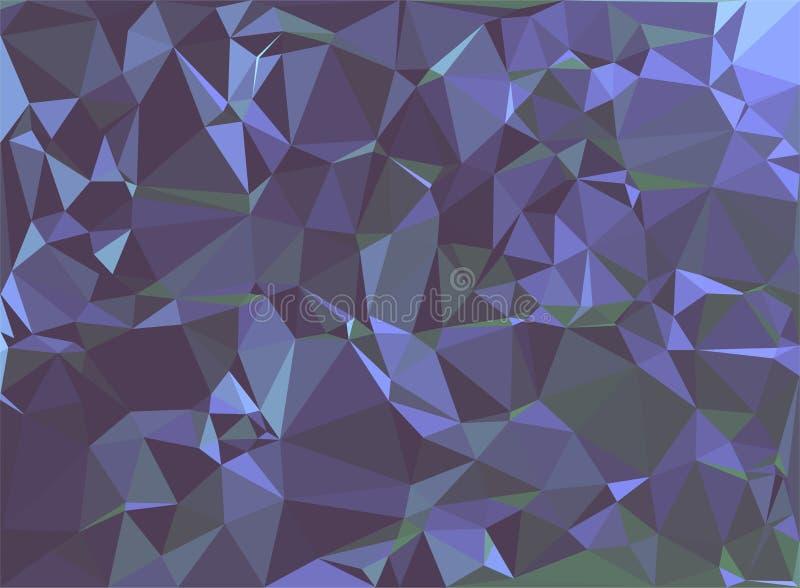 Fundo verde violeta geométrico do polígono abstrato do triângulo, vetor ilustração royalty free