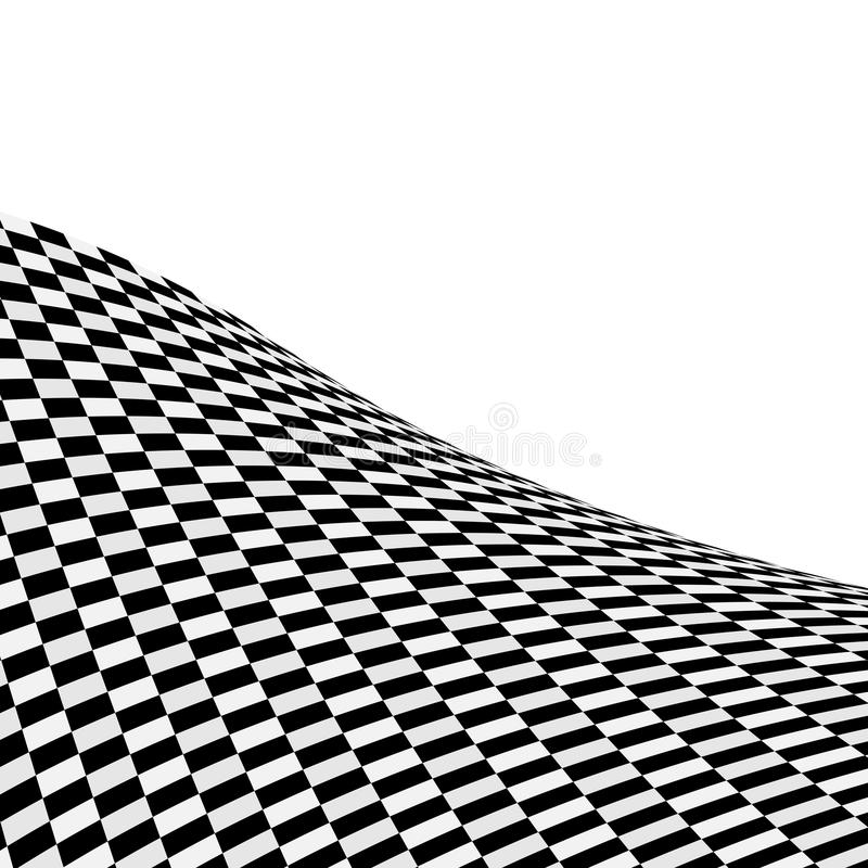 Fundo verific preto e branco ilustração do vetor