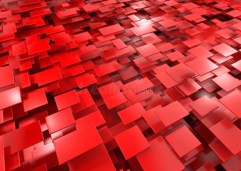 Fundo vermelho abstrato ilustração do vetor