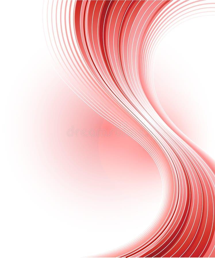 Fundo vermelho abstrato creativo ilustração royalty free
