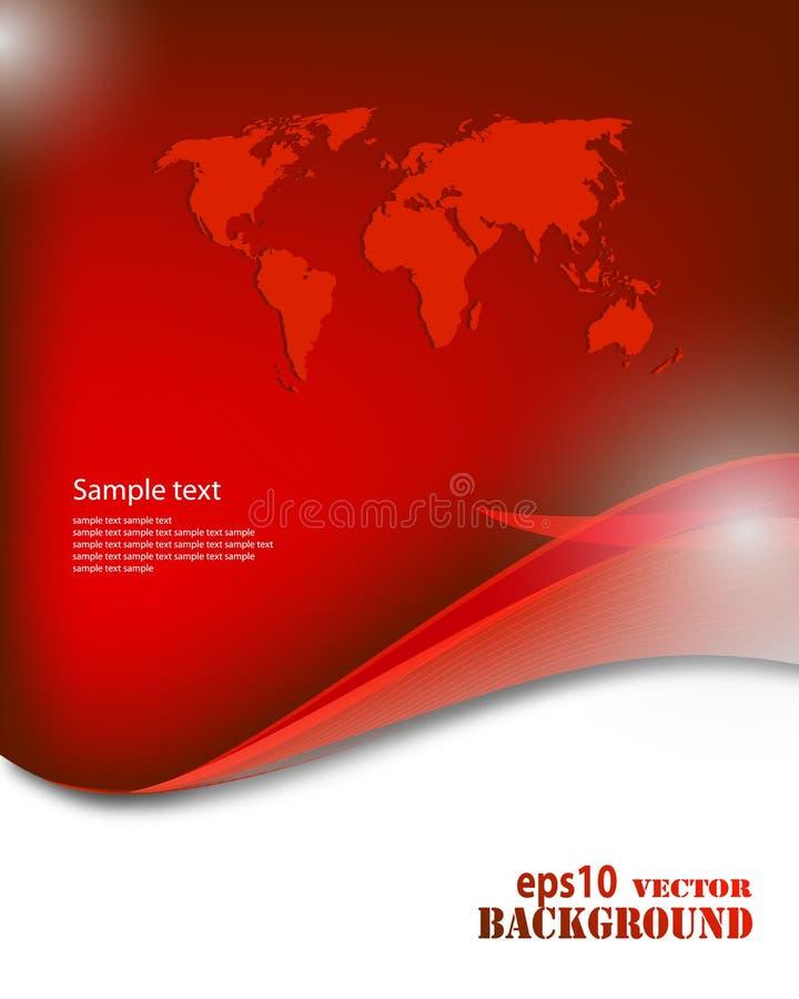 Fundo vermelho abstrato do negócio ilustração stock