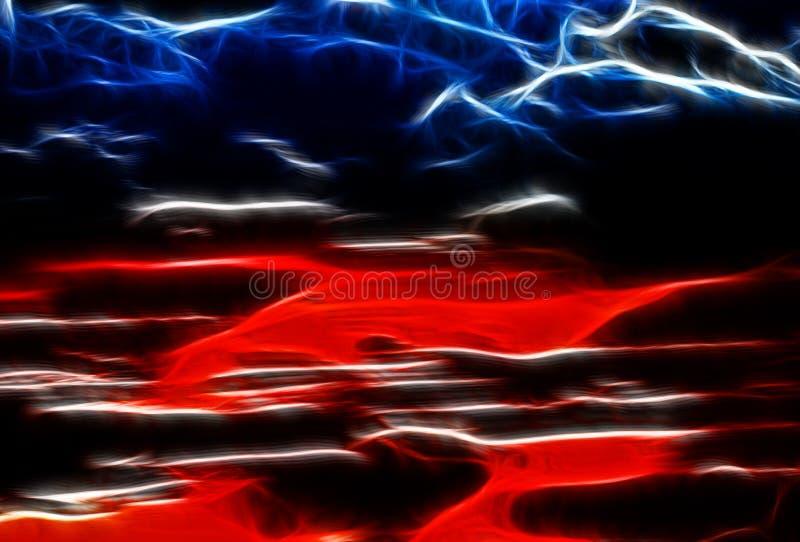 Fundo vermelho abstrato do teste padrão de onda projeto da superfície da cor bonito ilustração stock