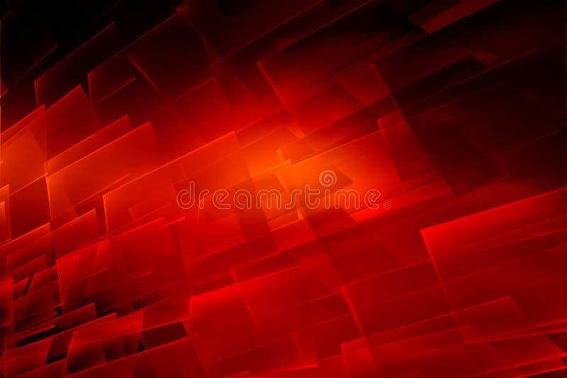 Fundo vermelho abstrato gráfico do tema com superfície transparente imagem de stock royalty free
