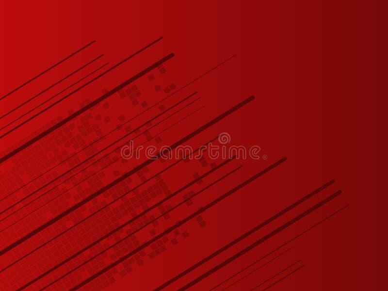 Fundo vermelho alta tecnologia abstrato ilustração royalty free