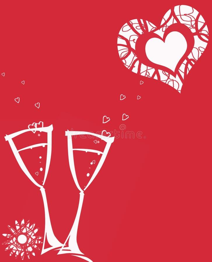 Fundo vermelho bonito para cartões ilustração royalty free