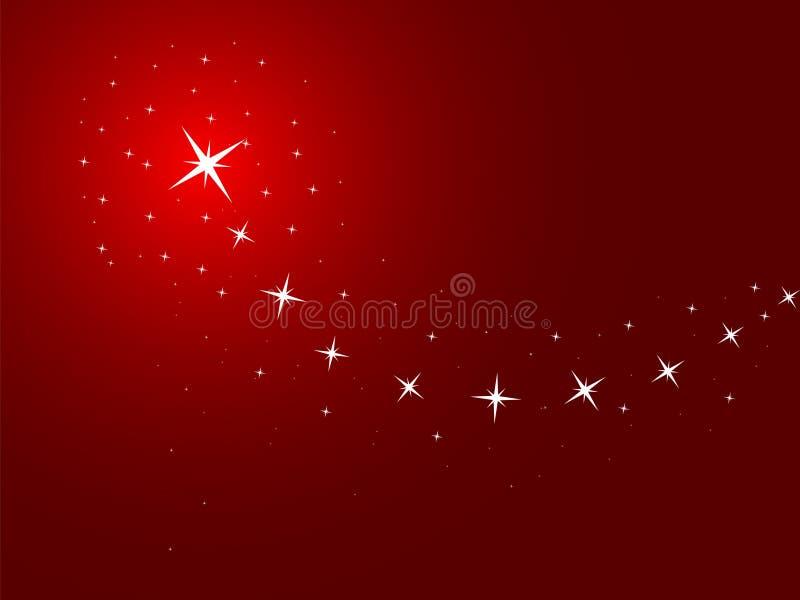 Fundo vermelho com estrelas ilustração royalty free