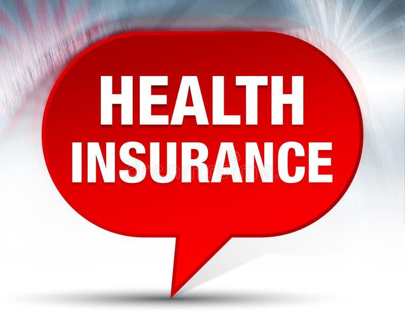 Fundo vermelho da bolha do seguro de saúde ilustração do vetor